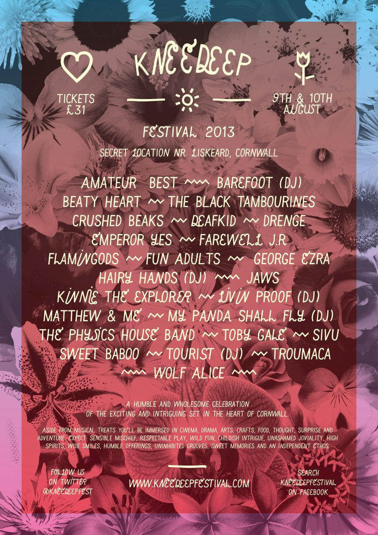 Knee Deep Festival 2013 Line-up Poster